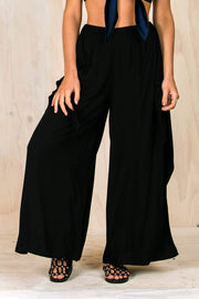 BOTTOMS - Seashell Shore Pants - Black (FINAL SALE)
