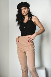 BOTTOMS - St Arzia Beige Pants
