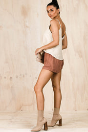 BOTTOMS - Toffee Tie Shorts