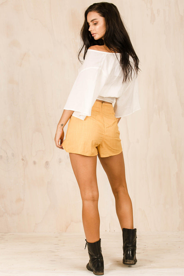 BOTTOMS - Zola Mustard Shorts