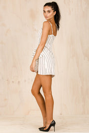 DRESSES - Acia White Wrap Dress