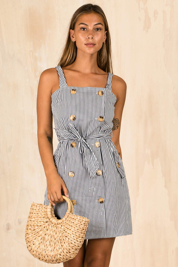 DRESSES - Ahoy Sailor Button Up Dress (FINAL SALE)