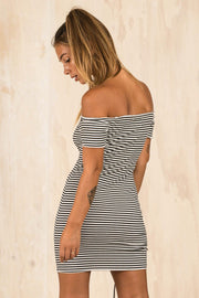 DRESSES - Alice Bow Up Stripe Dress
