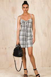 DRESSES - Ally Button Up Mini Dress