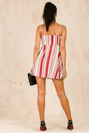 DRESSES - Burgundy Betty Stripe Dress