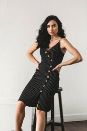 DRESSES - Laneway Button Up Dress Black (FINAL SALE)