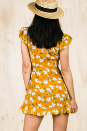 Megan Tie Dress Mustard