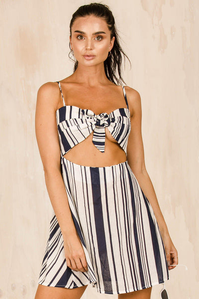 DRESSES - Navy Betty Stripe Dress