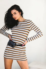 DRESSES - Rahnee Stripe Long Sleeve Dress / Top