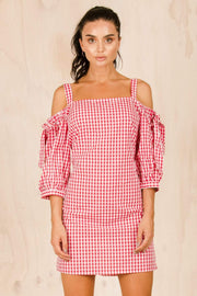 DRESSES - Ruby Checkered Mini Dress