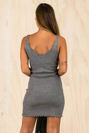 DRESSES - Say It Right Knit Dress - Grey
