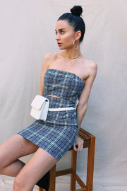 DRESSES - Say My Name Plaid Strapless Dress (FINAL SALE)