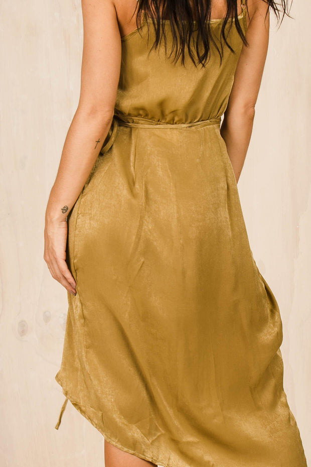 DRESSES - Take Me Out Mustard Maxi Dress (FINAL SALE)