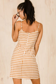 DRESSES - Taliah Tie Dress - Tan