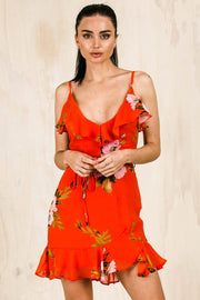 DRESSES - Tangerine Frill Dress