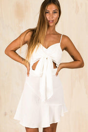 DRESSES - White Cutout Katie Dress