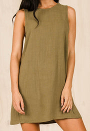 DRESSES - Zanthia Shift Dress Khaki