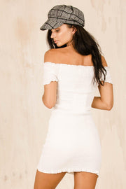DRESSES - Zuri Ruched Dress - White