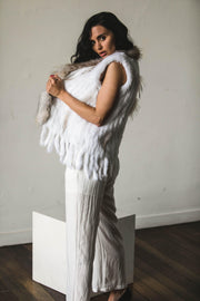 OUTERWEAR - Alice May Vest White (FINAL SALE)