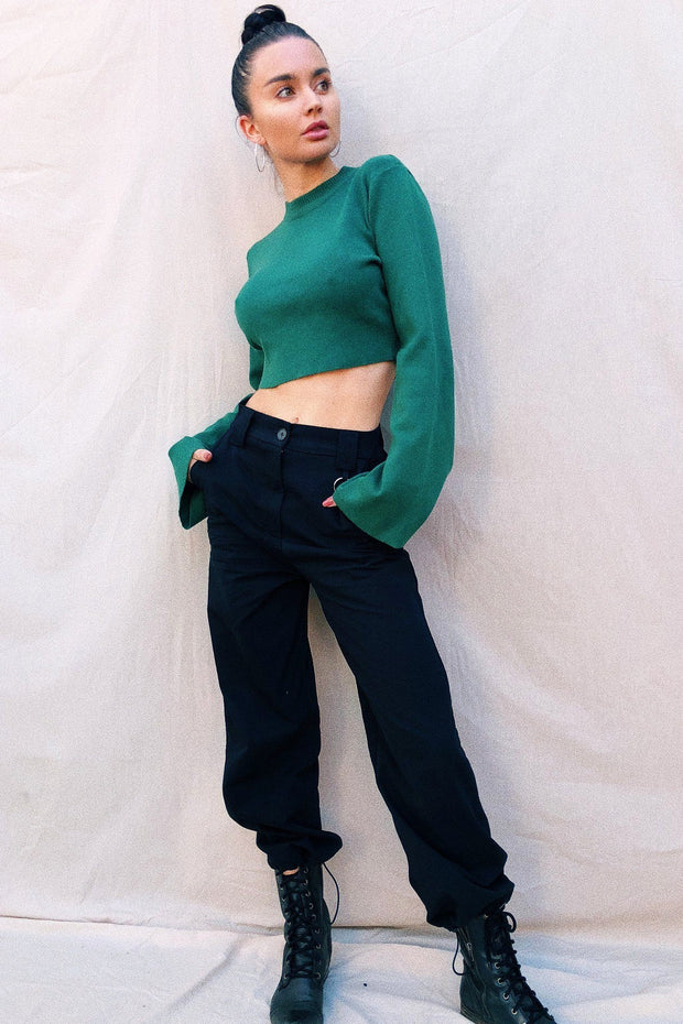 OUTERWEAR - Emerald Crop Jumper