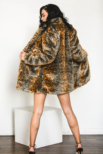 OUTERWEAR - Leo Faux Fur Coat (FINAL SALE)