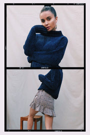 OUTERWEAR - Nadia Knit Navy Jumper