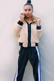 OUTERWEAR - Panda Jacket -Beige/Black