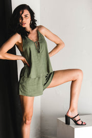 PLAYSUITS - Consequences Khaki Playsuit (FINAL SALE)