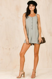PLAYSUITS + JUMPSUITS - Bella Button Up Playsuit (FINAL SALE)