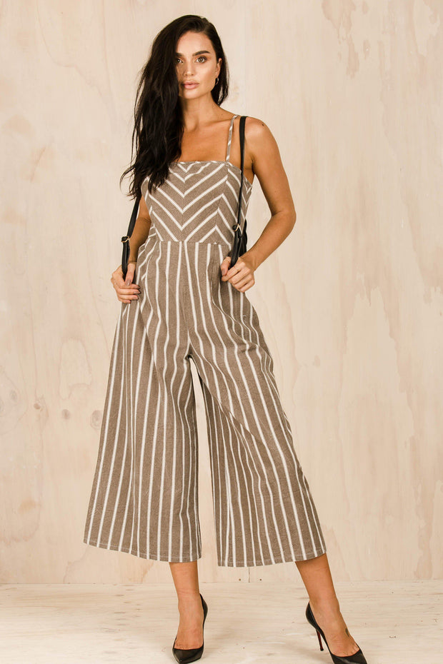 PLAYSUITS + JUMPSUITS - Bittersweet Jumpsuit - Caramel