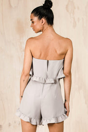 PLAYSUITS + JUMPSUITS - Harley Strapless Playsuit - Silver (FINAL SALE)