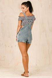 PLAYSUITS + JUMPSUITS - Katie Denim Dungries (FINAL SALE)