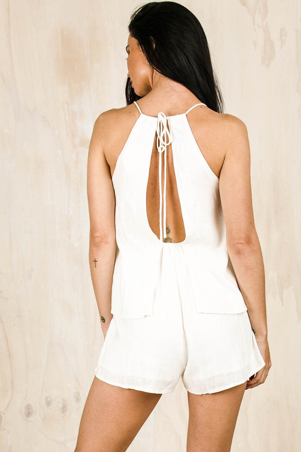 PLAYSUITS + JUMPSUITS - Love You Better Playsuit White