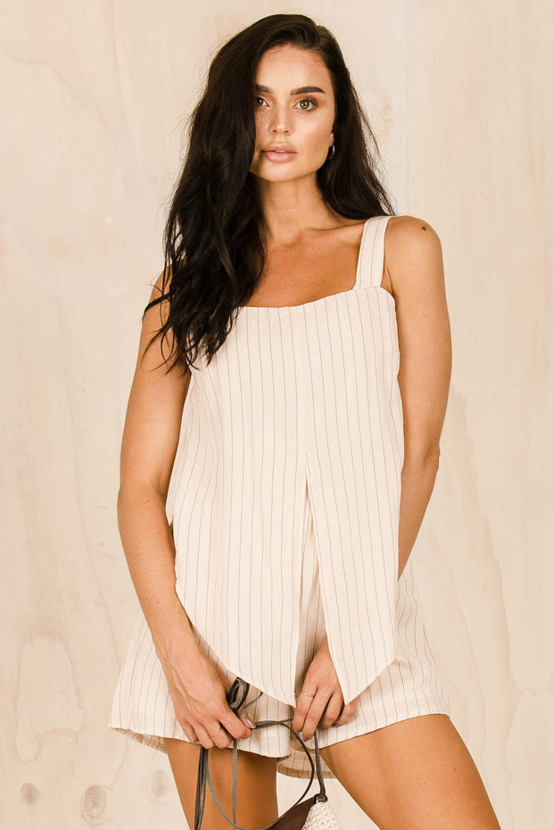 PLAYSUITS + JUMPSUITS - Mika Stripe Playsuit