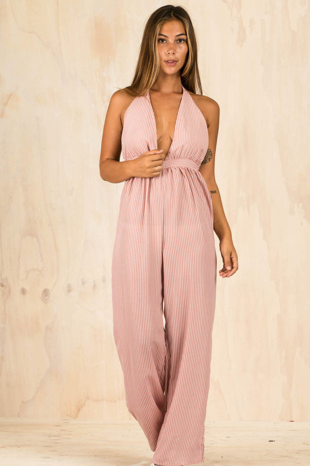 PLAYSUITS + JUMPSUITS - Pink Cammy Jumpsuit (FINAL SALE)