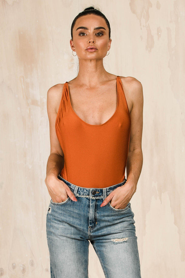 SWIM - Cote Bodysuit - Rust (FINAL SALE)