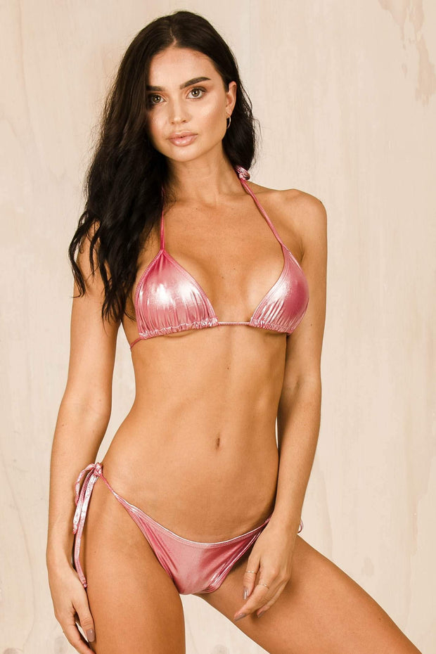 SWIM - The Gisele Bikini - Pink Metallic