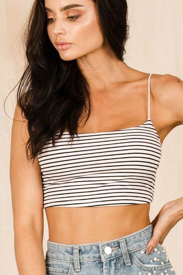TOPS - Lani Stripe Crop Top (FINAL SALE)