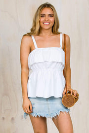 TOPS - Macie White Top (FINAL SALE)