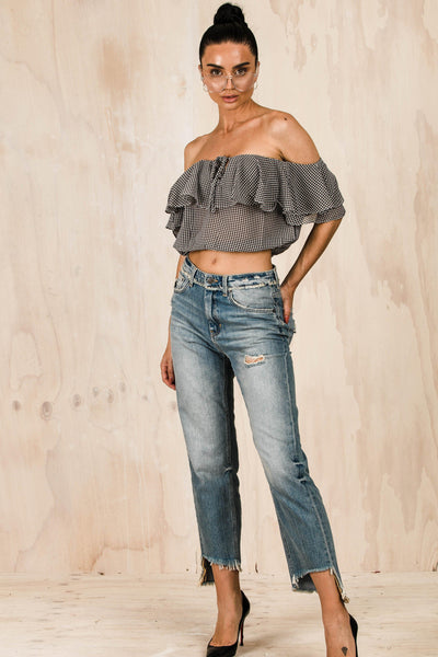 TOPS - Madison Off The Shoulder Top - Black (FINAL SALE)