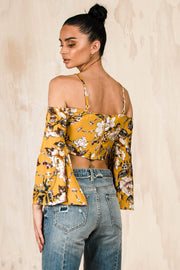 TOPS - Marigold Front Tie Crop (FINAL SALE)
