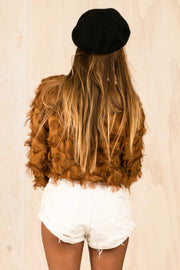 TOPS - Rust Feather Top (FINAL SALE)