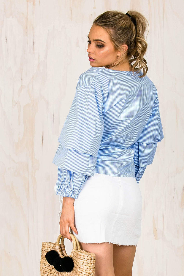 TOPS - Simone Flare Wrap Top (FINAL SALE)