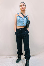 TOPS - The Amy Denim Crop Top
