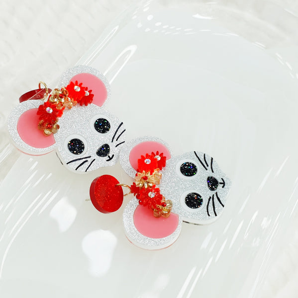 Mouse Dangle Earrings