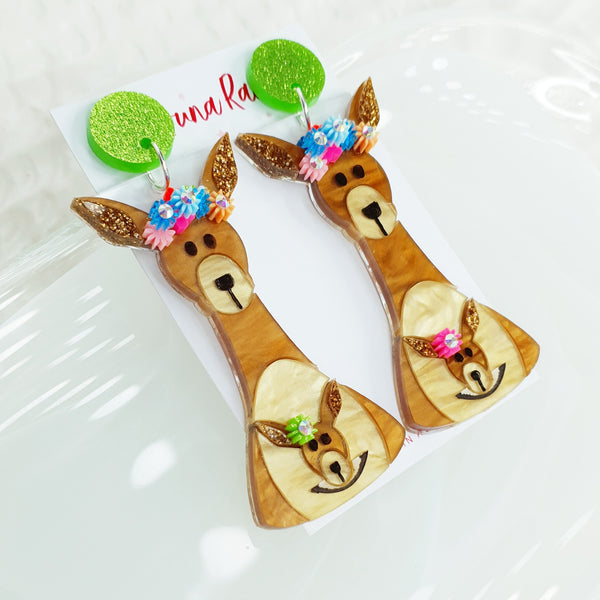 Kangaroo Dangle Earrings