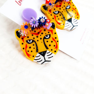 Cheetah Dangle Earrings
