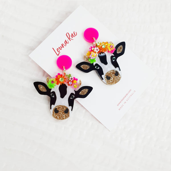 Cow Dangle Earrings