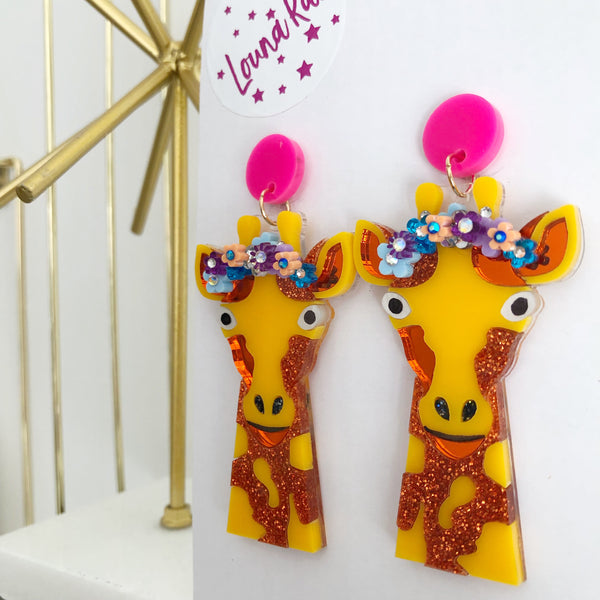 Giraffe Dangle Earrings