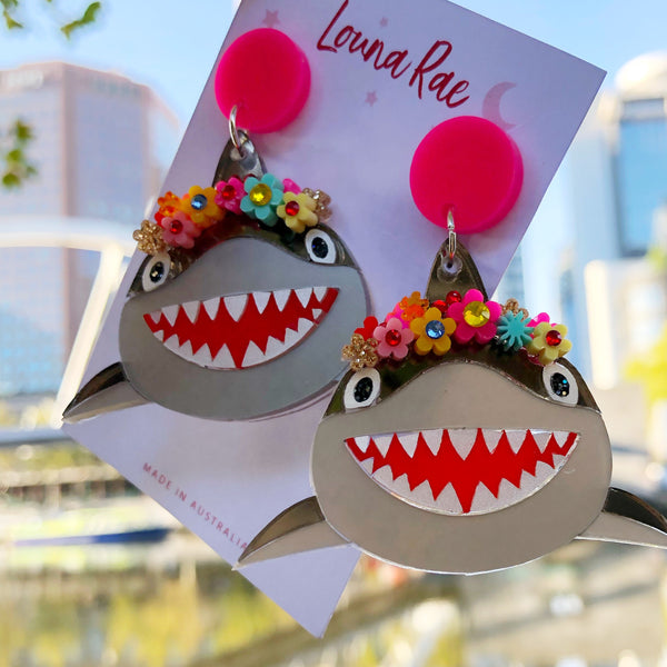 Mommy Shark Dangle Earrings